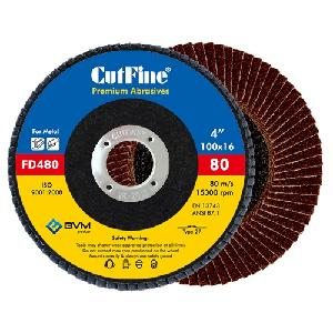 Cutfine 80 Grit Flap Disc 100 X 16 Mm Fd480
