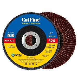 Cutfine 320 Grit Flap Disc 100 X 16 Mm Fd4320