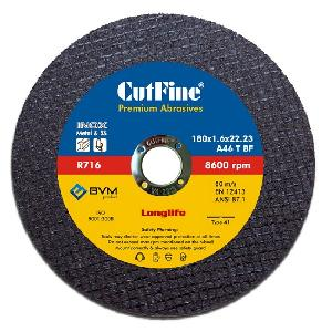 Cutfine A46 T Bf Reinforced Cutting Wheel 180 Mm X 1.6 Mm X 22.23 Mm R716