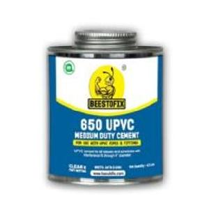 "Beestofix Upvc 650 Md Aqua Clear/Blue 59 Ml For Pipe Size 1/2""  To 4"""