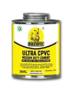 "Beestofix Cpvc Ultra Md Solvent Cement 59 Ml For Pipe Size 1/2"" To 6"""