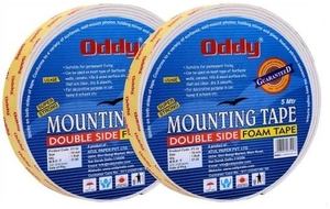 Oddy Ft-12 (5mtr. Length, 12mm Width) Mounting Foam Tape (Set Of 1 Dozen)