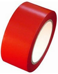Ltd Red Floor Marking Tape 72mm*.16mm*27mtrs
