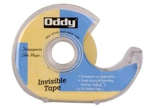 Oddy  Itd-1833  Invisible Tape With Metal Teeth Dispenser - (Set Of 4)