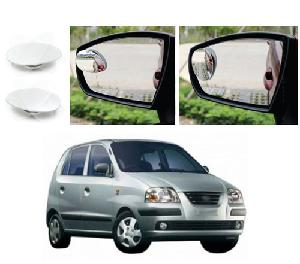 Bluestar Auto Adjustable Blind Spot Mirror For Hyundai Santro Xing Pack Of 2
