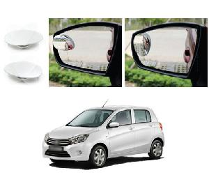 Bluestar Auto Adjustable Blind Spot Mirror For Mahindra Tuv-300 Pack Of 2