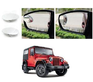 Bluestar Auto Adjustable Blind Spot Mirror For Mahindra Thar Pack Of 2