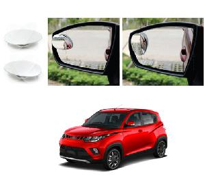 Bluestar Auto Adjustable Blind Spot Mirror For Mahindra Kuv100 Pack Of 2