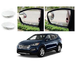 Bluestar Auto Adjustable Blind Spot Mirror For Hyundai Santa Fe Type 2 (2014-2015) Pack Of 2