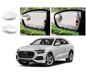 Bluestar Auto Adjustable Blind Spot Mirror For Audi Q8 Pack Of 2
