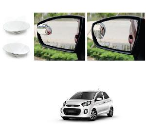 Bluestar Auto Adjustable Blind Spot Mirror For Kia Picanto Pack Of 2