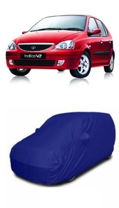Oscar Vturbo Car Cover Blue And Grey For Tata Indica