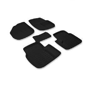 Enexoya Premium 3d Black Car Floor Mat 102003 For Ford Figo
