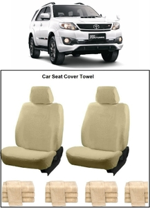 Oscar Toyota Fortuner Car Seat Cover Beige Aut-Sn-4270