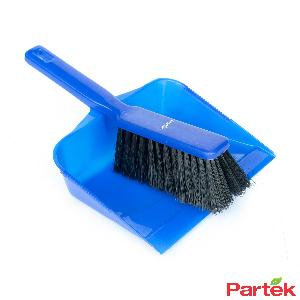 Partek Color Coded Hand Dust Pan With Brush - Blue Hdpb01/B