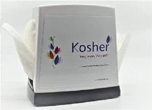 Kosher L-Fold Table Top Double Sided Pop-Up Tissue Paper Dispenser & 2 Refill Pack Free