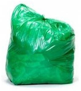 Cosmos Ecofriends 19 X 21 Inch Green Garbage Bag 30 Pcs