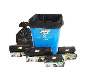 Kleen Kountry 48 Cm X 54 Cm Black Medium Garbage Bag - (Pack Of 30 Pcs)