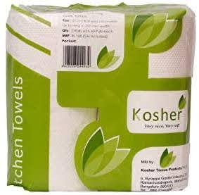 Kosher Kitchen 2 In 1 Tissue/Towel Paper Roll 2 Ply 60 Pulls Combo Of 5 (10 Rolls)