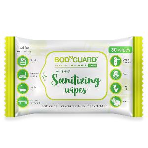Bodyguard Anti Bacterial Disinfectant Sanitizing Wipes Paper 150 Grams Fsp339