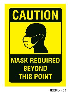 Jeepl 16x8 Inch Mask Required Beyond This Point Sign Board Jeepl - 435