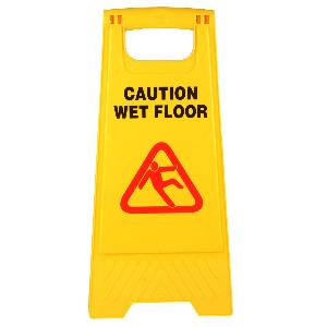 Star Safety Wet Floor Caution Sign Board Yellow