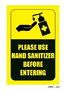 Jeepl 24x8 Inch Please Use Hand Sanitizer Before Entering Sign Board Jeepl - 426