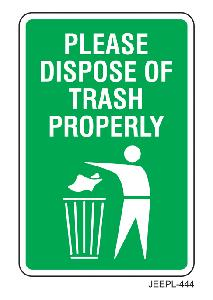 Jeepl 12x8 Inch Please Dispose Of Trash Properly Sign Board Jeepl - 444