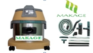 Makage 15 Ltr. Wet & Dry Vacuum Cleaner Yellow And Gray Color