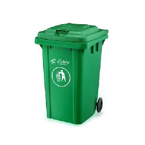 Fiable 80 L Green Color 2 Wheel Dustbin With Lid Fdb 80 A