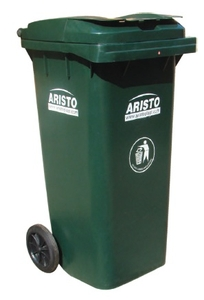 Aristo Wheel Waste Bin 120 Green