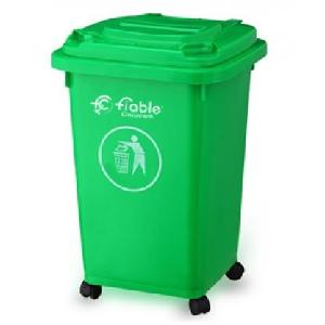 Fiable 50 L Green Color 4 Wheel Dustbin With Lid Fdb 50 A