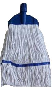 "Meemaa Mop 6"" Clip And Fit White Yarn With Blue Tape"