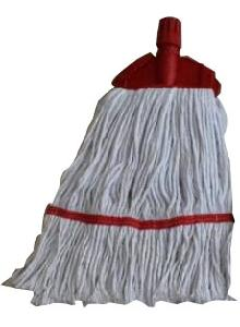 "Meemaa Mop 6"" Clip And Fit White Yarn With Red Tape"