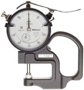Mitutoyo 10 Mm Dial Thickness Gauge 7301 , 0.01 Mm