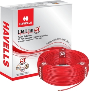 Havells Life Line 2.5 Sq. Mm (Length 90 M) Fr Pvc Insulated Cable Red Whffdnra12x5