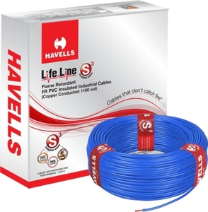 Havells Life Line 2.5 Sq. Mm Length 90 M Fr Pvc Insulated Cable Blue Whffdnba12x5