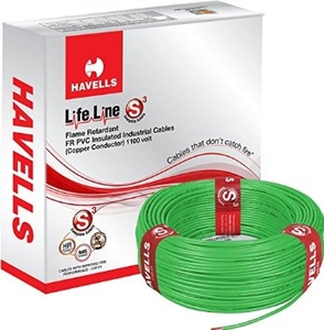 Havells Life Line 2.5 Sq. Mm Length 180m Fr Pvc Insulated Cable Green Whffdngl12x5