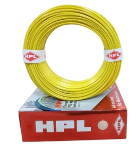 Hpl Fr Pvc Insulated Cable Yellow 6 Sq.Mm 90 M Hfr000600090
