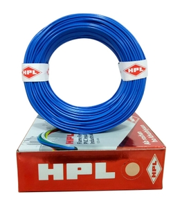 Hpl Fr Pvc Insulated Cable Blue 6 Sq.Mm 90 M Hfr000600090