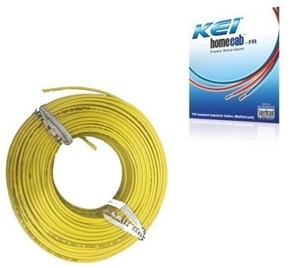Kei 1.5 Sq.Mm (Length 180 M) Fr Pvc Insulated Cable Yellow