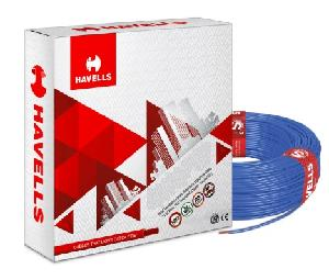 Havells Life Line Whffdnbf14x0 Fr Pvc Insulated Flexible Cable Single Core 4 Sq. Mm 200 Mtr - Blue