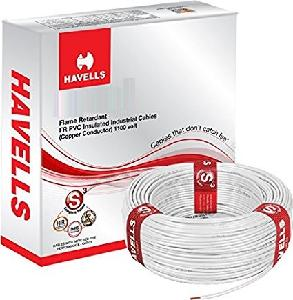 Havells Life Line Plus Whffdnwg1016 Hrfr Pvc Insulated Flexible Cable Single Core 16 Sq. Mm - White