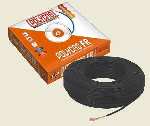 Polycab Datar  Fr Pvc Insulated Flexible Cable Single Core 6 Sq. Mm 90 Mtr - Black