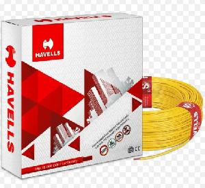 Havells Life Line Plus Whffdnyg1016 Hrfr Pvc Insulated Flexible Cable Single Core 16 Sq. Mm - Yellow