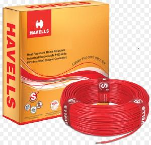 Havells Life Line Whffdnrf14x0 Fr Pvc Insulated Flexible Cable Single Core 4 Sq. Mm 200 Mtr - Red