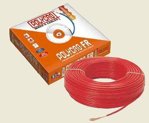 Polycab  Hffr Pvc Insulated Flexible Cable Single Core 6 Sq. Mm 90 Mtr - Red