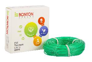 Bonton 2.5 Sq.Mm Green Single Core Copper Conductor Pvc Cables (Unsheathed)-Hrfr