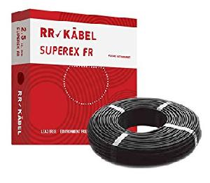 R R Kable Superex-Fr 6 Sq.Mm Wire 90 Metre Black Roll