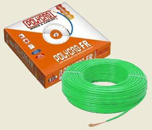 Polycab  Hffr Pvc Insulated Flexible Cable Single Core 4 Sq. Mm 90 Mtr - Green